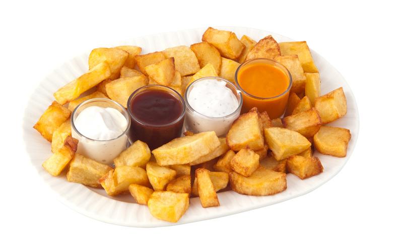 Restaurante Pirámides Ración patatas 4 salsas