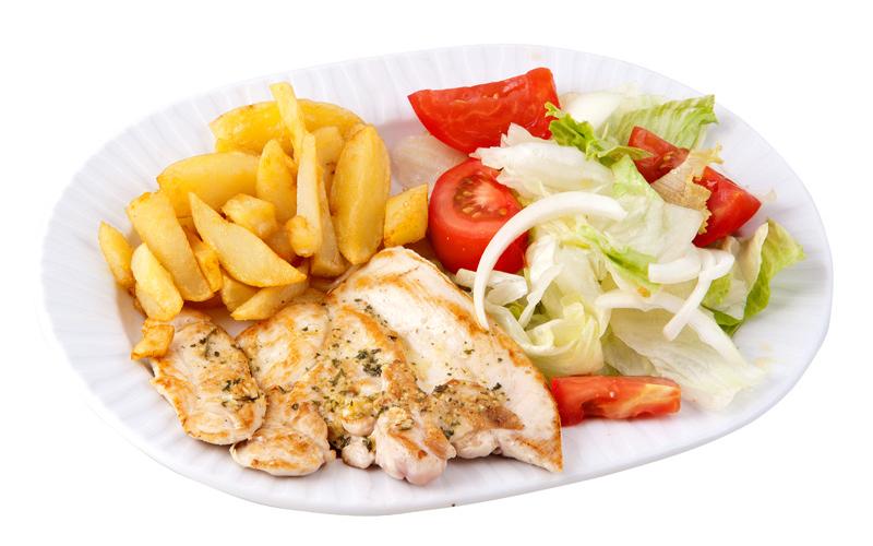 Restaurante Pirámides Plato pollo plancha