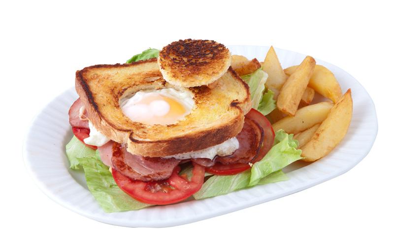 Restaurante Pirámides Sandwich huevo